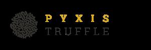 Pyxis Truffle logó, pyxis truffle, friss szarvasgomba, érett szarvasgomba, szarvasgomba, fekete szarvasgomba, fehér szarvasgomba